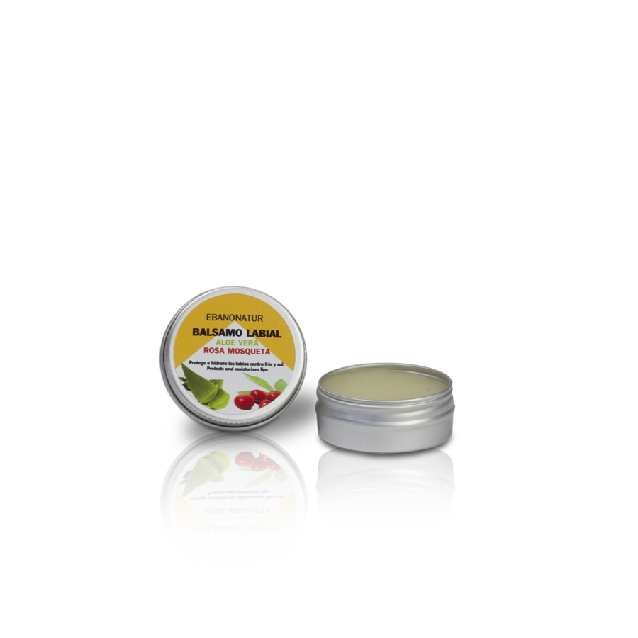 Lippenbalsam Aloe Vera, Rosa Mosqueta - 15 ml
