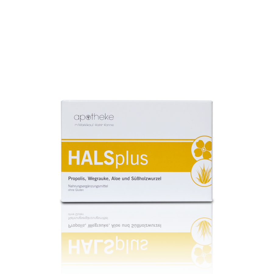 Halsplus - Zur Linderung bei Stimmschwäche und Beschwerden im Mund und Hals.
