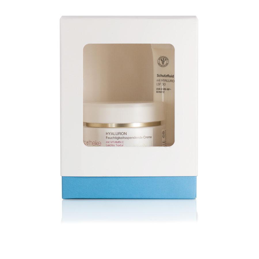 Feuchtigkeitsspendende Creme mit Vitamin E & Schutzfluid mit Hyaluronsäure LSF 30 - Apotheke im Marktkauf Shop