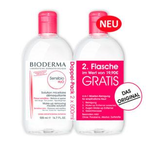 Bioderma- Sensibio H2O - 2 x 500 ml milde Reinigungslösung