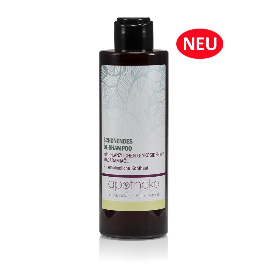 Schonendes Öl-Shampoo mit pflanzlichen Glykosiden & Macadamiaöl - Apotheke im Marktkauf Shop