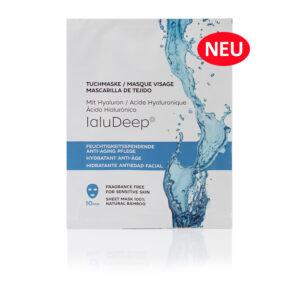 Feuchtigkeitsspendende Anti-Aging Tuchmaske mit IaluDeep® Geel-Textur